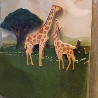 Giraffe removable adhesive paper