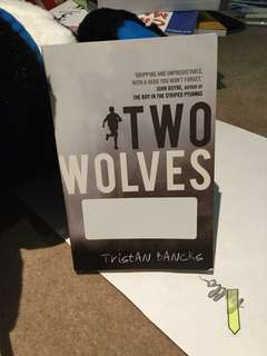 Two wolves by Tristan Banks
