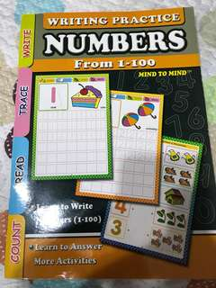 Writing Practice Numbers From 1-100