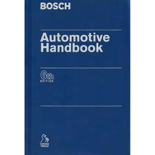 Bosch Automotive Handbook 6th Edition