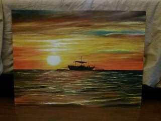 Oil Painting  'Sea Sunrise'