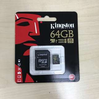 Kingston Micro SD 64GB (U3) GoPro