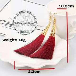 Tassle Earring (Red)