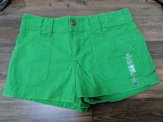 Brand New Old Navy Low Waist Green Denim Shorts