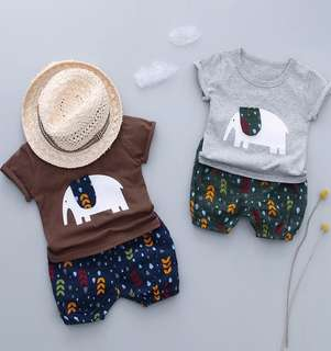 Baby Summer Clothes Short-Sleeved Suit