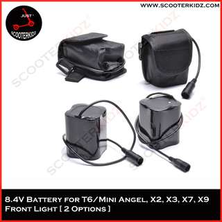 8.4V Battery for all T6 Cree light, Mini angel, Solar Storm X2, X3, X7 and X9 [ 2 Options ]