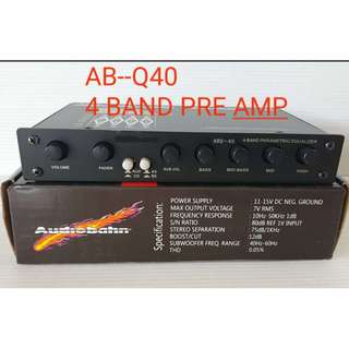 Audiobahn 4 Band Pre Amp with Subwoofer Output