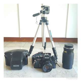 RICOH KR-5 SUPER w/ FREE RMC Tokina Lens and SAKAR Tripod