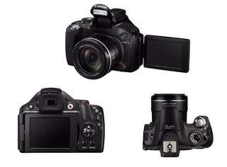 🚚 Canon PowerShot SX40 HS 附充電座/電池*2/相機包