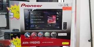 Pioneer AVH-195DVD 1 year warranty