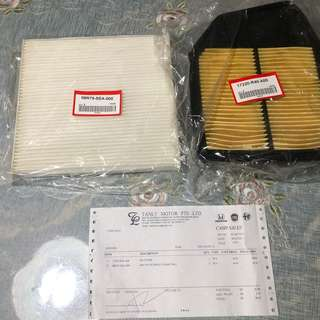 Honda Accord CP2 Air Filter & Aircon Filter