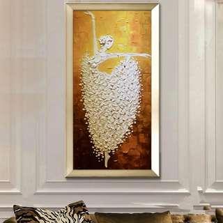 Ballerina Ballet Dance Oil Painting 70cm x 140cm