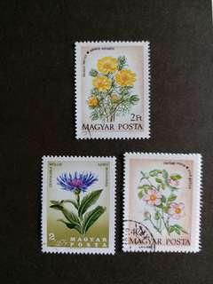 匈牙利郵票 花卉已銷郵票