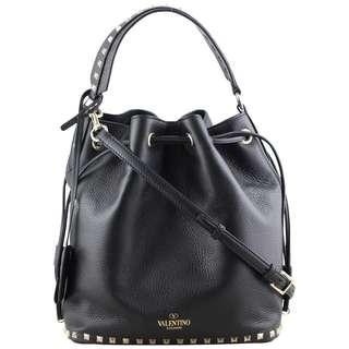 Authentic Valentino Rockstud Bucket Bag Medium