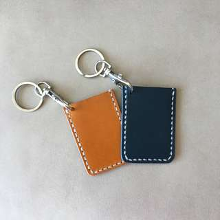 Handmade 真皮製 迷你八達通套 卡套 鎖匙扣 Cardholder Keychain