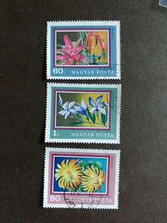 匈牙利郵票 花卉已銷郵票一套