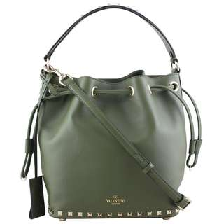 Authentic Valentino Rockstud Bucket Bag Small