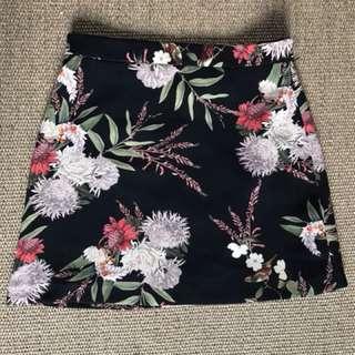 Zara Floral Oriental Skirt
