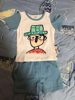 BNWT Baby Clothes boy girl pyjamas set shorts size 65