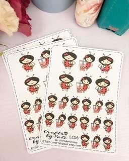 LC56 Loli Bubble Tea Planner sticker