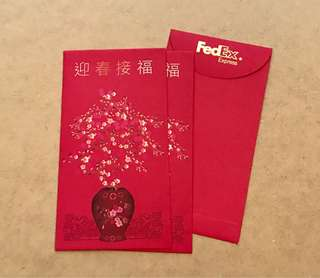 8pcs FedEx red packet / ang pow pao