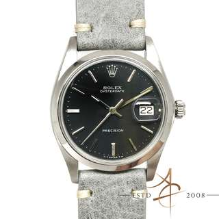 [Rare] Rolex Oysterdate Precision 6694 Anthracite Grey Dial Vintage Watch (Year 1976)