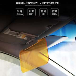 Car Sunshade Sun Visor Anti-glare Clip-on Light Filter Board Auto Sunglass Screen Shading Folio Plates