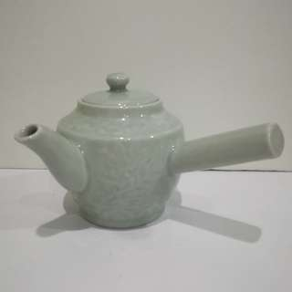 Antique Celedon Tea Pot  80's