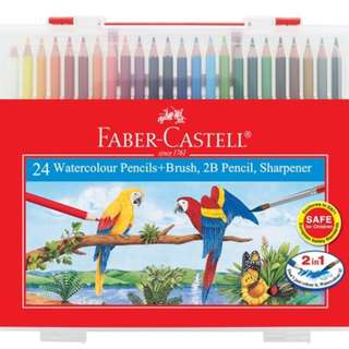 New Faber Castell Watercolour Pencils 24pcs