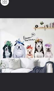 NEW Siberian Husky Pooh II Pet Shop Dog Simulation Wall Stickers Waterproof Removable Wall Stickers Home decor