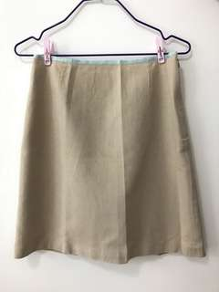 nice skirt with details (khaki colour)