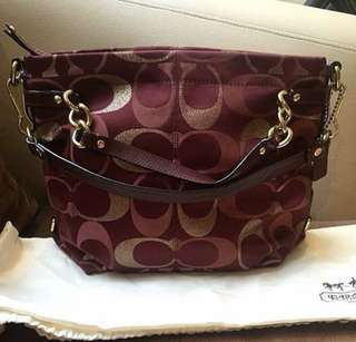 Second COACH Brooke 3 colour sig Red with tag n db
