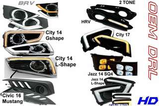fog lamp cover with led city/civic