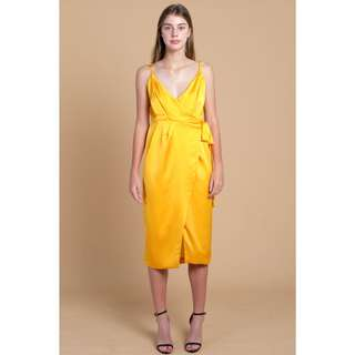 Ariel Strappy Wrap Dress Dandelion