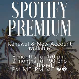 SPOTIFY PREMIUM AVAILABLE! ‼️💖