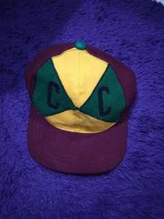 Cross colour hat