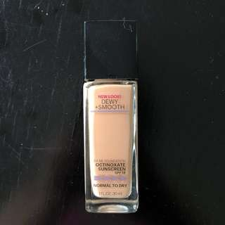 maybelline dewy smooth foundie shd 130 buff beige #horegajian