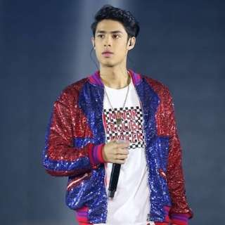 Sequined varsity jacket worn by Donny Pangilinan