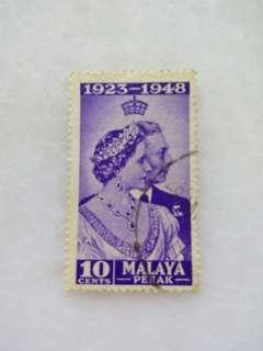 Malaya Perak Stamp 10 Cents Used