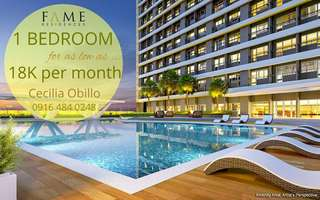 1 Bedroom 24sqm Fame Residences Condo in Mandaluyong EDSA near Megamall