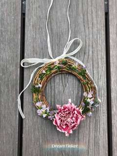 Lecerin Preserved Mother's day Flower Wreath