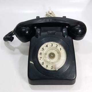 懷舊  1978年  香港電話公司  黑色攪盤電話(不包好壞)