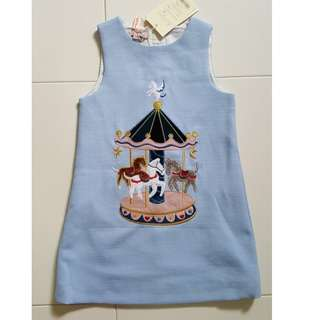 Girl's Dress - Embroidered Carousel
