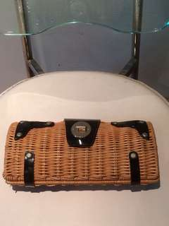 Kate Spade 竹製編織clutch