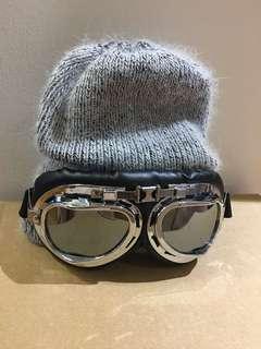 Ski goggle warm knit hat