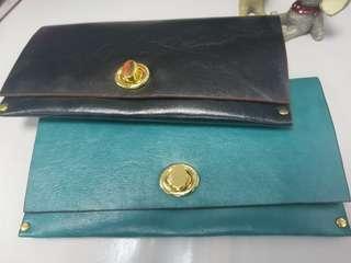 女神款 皮製 真皮手提包 2個