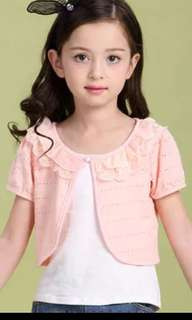 Brand new light pink cropped cardigan for girls