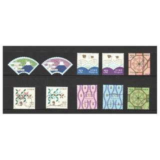 JAPAN 2016 TRADITIONAL DESIGN SERIES 1 (GEOMETRIC PATTERNS) 52 YEN COMP. SET OF 10 STAMPS IN FINE USED CONDITION