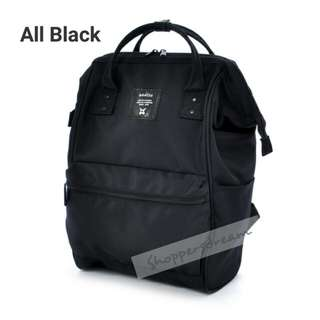 ✳ All Black Authentic Anello Multi Borders Backpack