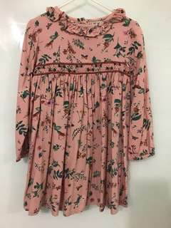 Floral Babydoll Top 4-5 years old